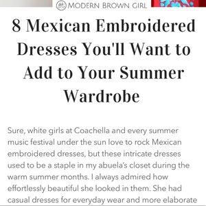 Mexican Dresses Magazine @ModernBrownGirl.com